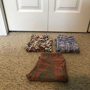 3 LuLaRoe Tween Leggings